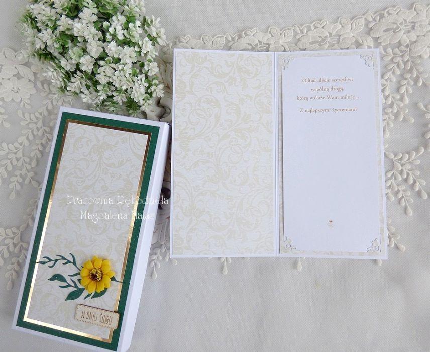 Ślubna kartka w pudełku 435 -
