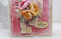 Bukiet dla Babci- kartka z pudełkiem