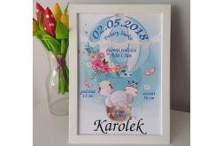 Metryczka a4 dla maluszka - urodziny, prezent, pamiątka wzory dla chłopczyka i dziewczynki