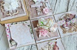 Romantyczny Exploding box z koszem kwiatów