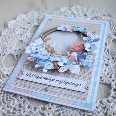 Kartka na roczek, chrzest ShakerBox 2 GOTOWA