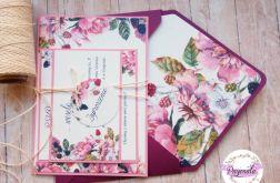 Zaproszenia jednokartkowe flowers # 13