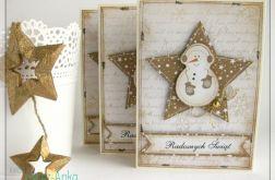 Kartka świąteczna z wesołym bałwanem 2