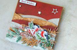 Kartka świąteczna - W zaspach śniegu