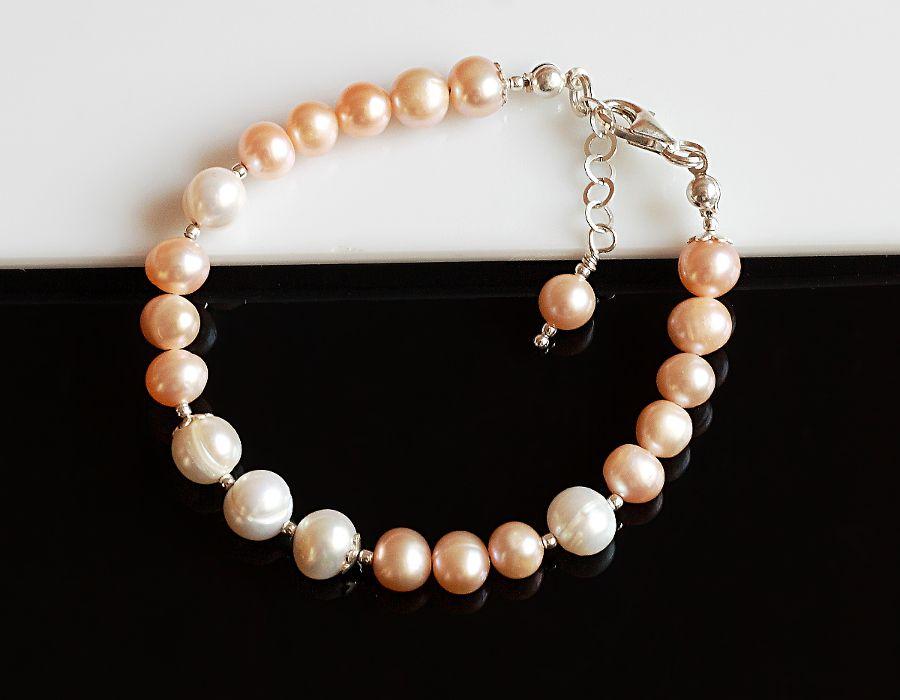 Perły hodowlane - bransoletka - perłowa bransoletka