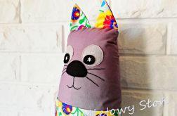 Kotek maskotka-podusia z kieszonką łowicz