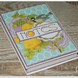 Hogisowy notesik z ptaszkiem - miętowy