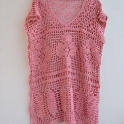 Tunika, sukienka narzutka oversize różowa