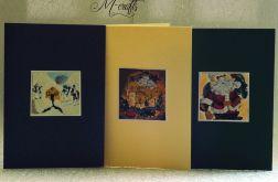 Malowane...Komplet 3 kartek