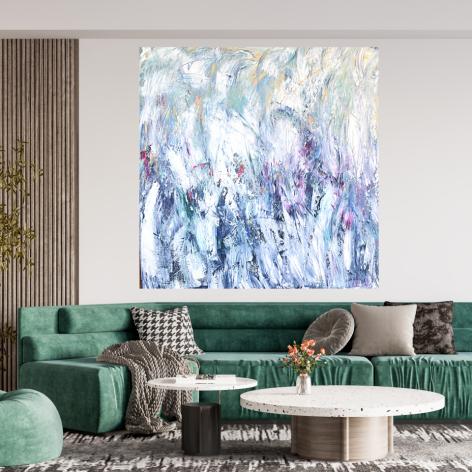 Obraz na płótnie 90x90 ręcznie malowany