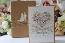 Stylowa kartka ślubna 17
