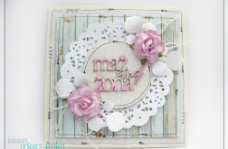 Delikatna i romantyczna kartka na Ślub 1