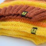 komplet żółto-pomarańczowo-rudy