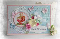 Kartka urodzinowa z motylkami