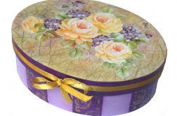 FIOŁKI I RÓŻE - szkatułka na biżuterię
