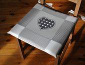Poduszki na krzesła, siedziska - szare serce 6 szt