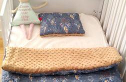 Łapacze snów/brązowy minky Kocyk + poduszka