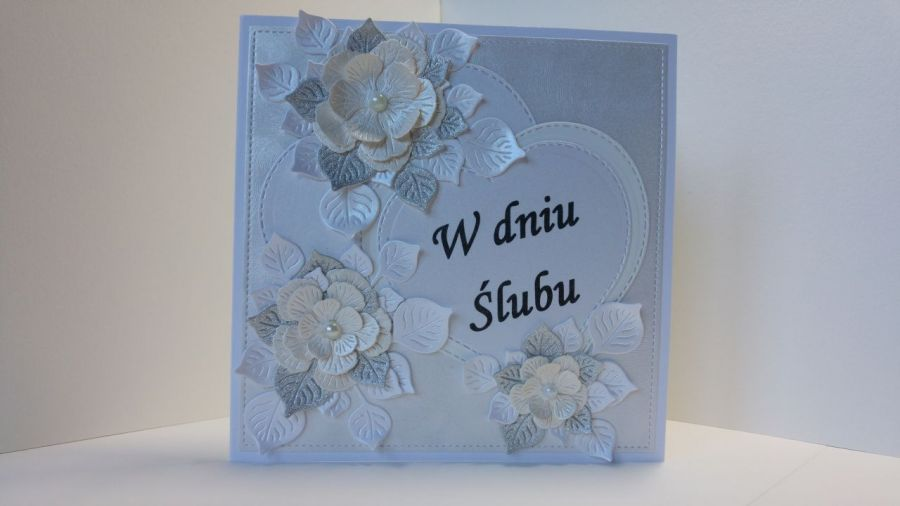 Kartka ślubna - W dniu Ślubu (srebrna)