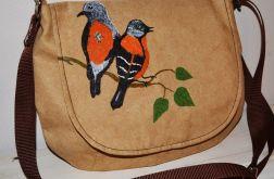 Torebka listonoszka malowane ptaki