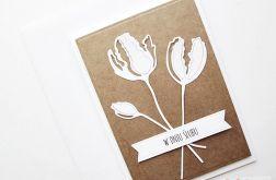 Kartka ŚLUBNA kraftowo-biała #1