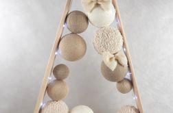 Elegancka Drewniana choinka w stylu skandynawskim LED