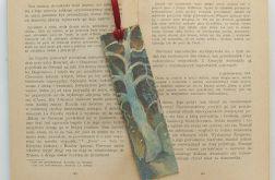 Vintage zakładka do książki  zima