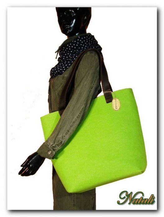 Duża zielona- neonowa XXL minimalistyczna torebka