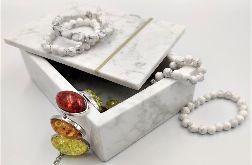 Szkatułka, pudełko, taca z marmuru Bianco Carrara