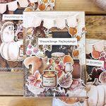 Jesienna nastrojowa kartka z wiewiórką