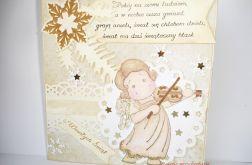 Kartka świąteczna z aniołkiem