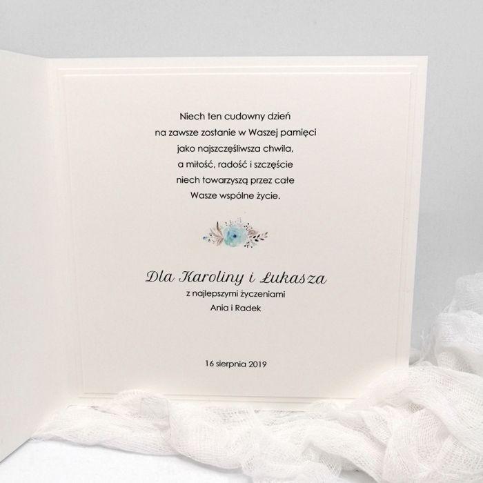 Delikatna kartka na Ślub z Parą Młodą w kop. - Delikatna kartka na Ślub z Parą Młodą w kopercie 3