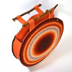 torba okrągła pomarańczowo-ruda