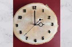Zegar z plastra drewna - brzoza jasna