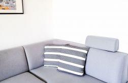 Poszewka dekoracyjna biało-ciemnoszara 45x45c