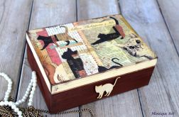 Kufer na biżuterię, dla miłośników kotów