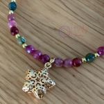 Bransoletka z kolorowych agatów - Bransoletka z kolorowych agatów