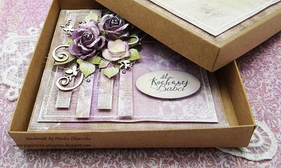 Dla kochanej Babci - kartka z pudełkiem