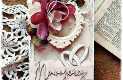 Nowożeńcy - kartka w pudełku