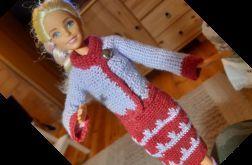 Ubranko dla lalki barbie - garsonka szydełko