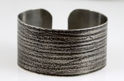 Metalowa bransoleta - prążki