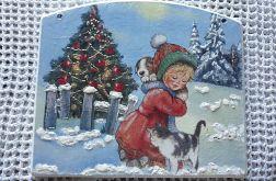 Obrazek świąteczny z dziewczynką