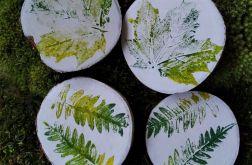Magnes na lodówkę drewienko motyw liści