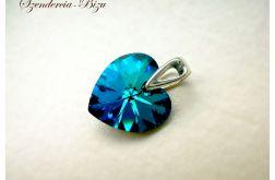 Zawieszka Swarovski Heart Bermuda Blue