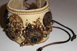 beaded embroidery bransoleta wyszywana