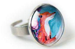 Fox pierścionek z ilustracją