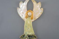 Aniołek ceramiczny zielony
