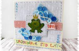 Kartka urodzinowa z żabką