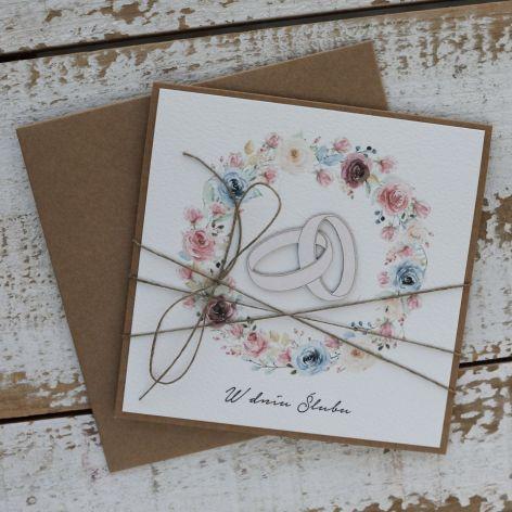 Kartka na ślub ręcznie robiona