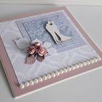 Kartka ślubna kwity perłowa