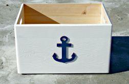 """Pudło na zabawki z kotwicą """"Nautical Style B"""" ŚREDNIA"""